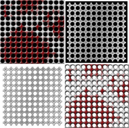 metal grids on a white and black backgrounds Stock Photo