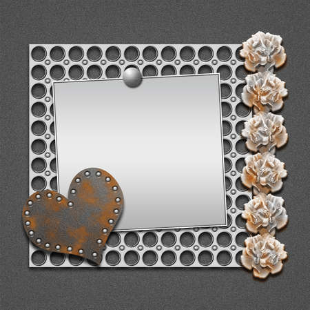 Romantic metal frame  Stock Photo - 12814708