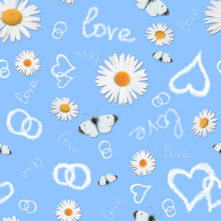 romantic seamless pattern  photo