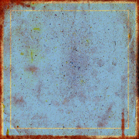The square rusty vintage blue abstract background Stock Photo