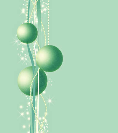 Vintage toned Christmas background with Christmas balls photo