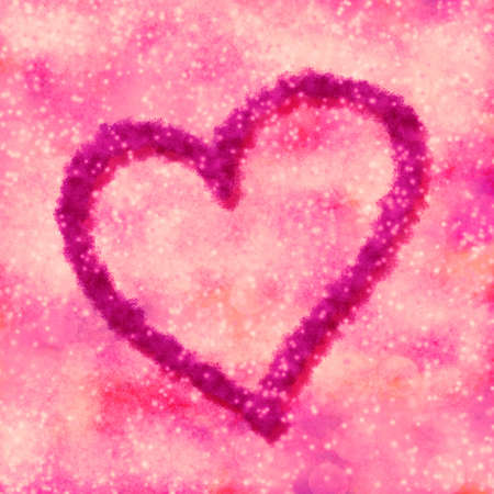Abstract square pink background with big heart Stock Photo