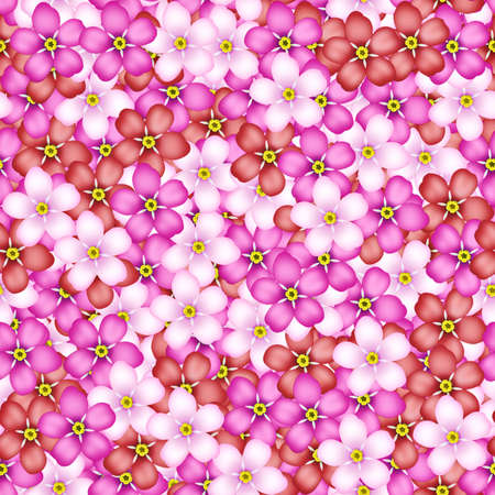 Seamless pattern with pink, red and white flowers photo