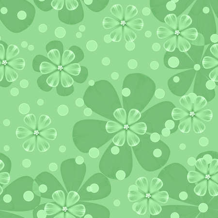 Illustrated abstract seamless background with floral pattern