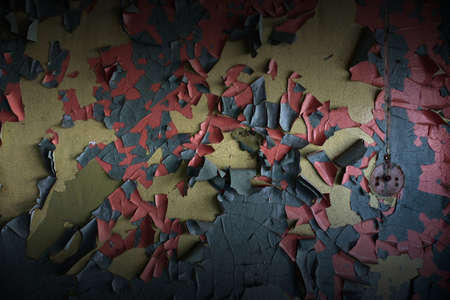 Dark dramatic background cracked color on an old wall Stock Photo