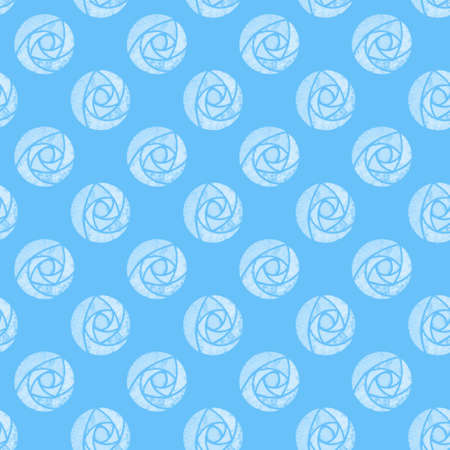 Illustrated seamless background with white roses mackintosh on blue Standard-Bild