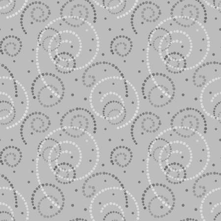 Illustrated abstract seamless background with gray and white spirals Stock Photo
