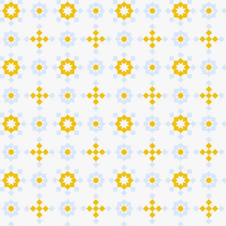 Abstract seamless geometric pattern, blue and yellow Stock Photo