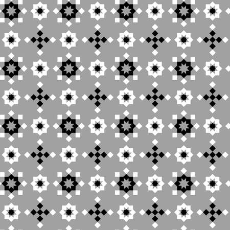 Abstract seamless geometric pattern, black and white Stock Photo