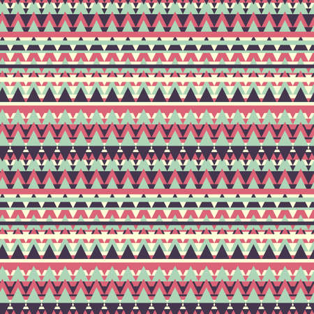 Color geometric seamless background in ethnic style