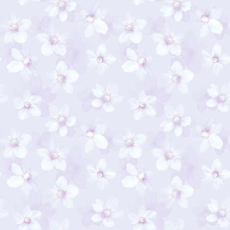 Seamless abstract light pink background with anemones