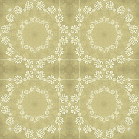 Illustrated seamless retro pattern on a yellow background with crystals Stock fotó