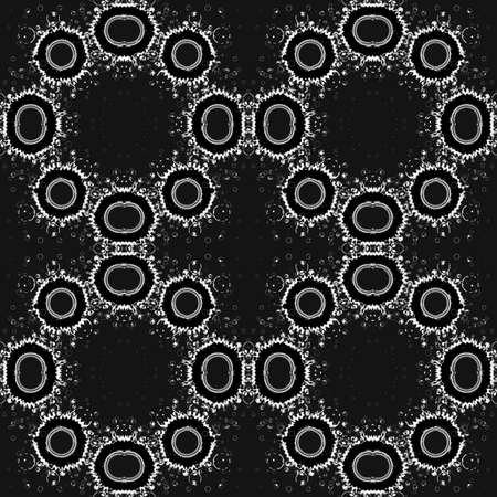 Abstract black and white seamless background, repeating pattern