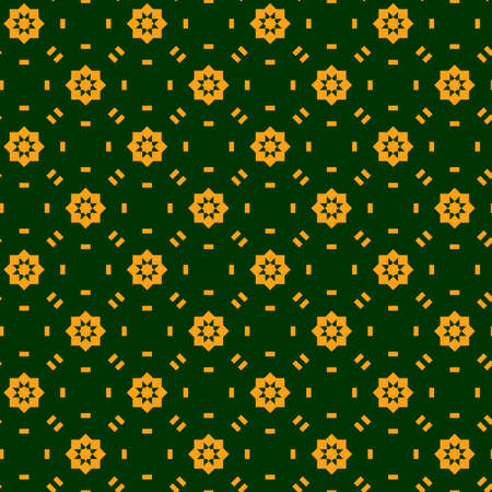 Abstract seamless geometric pattern, green and yellow