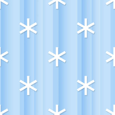 Seamless abstract blue background with white snowflakes Stock Photo