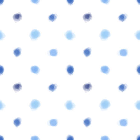 Abstract seamless pattern, blue dots on white background