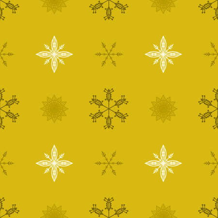 Illustrated seamless pattern with snowflakes