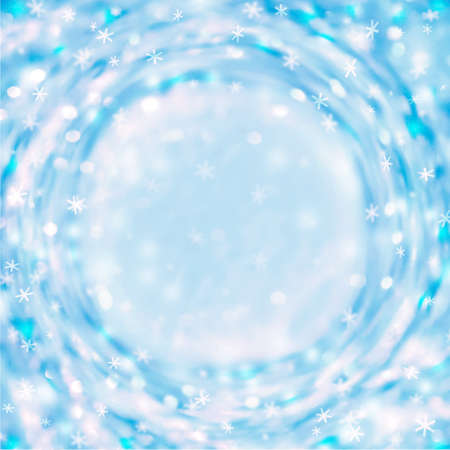 Illustrated abstract sparkling christmas background, blue frame Stock Photo