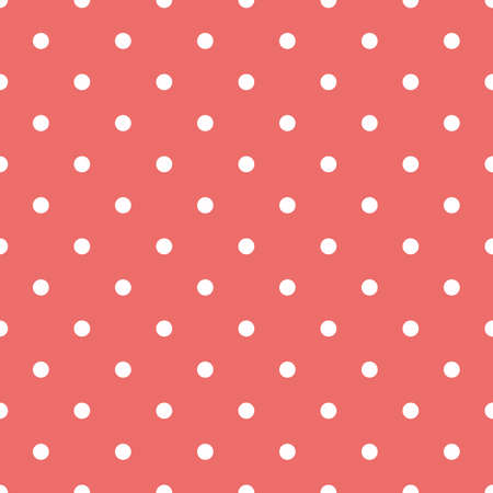 Illustrated abstract seamless pattern with repeating dots, pink and white