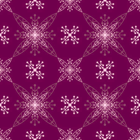 Illustrated lilac seamless pattern