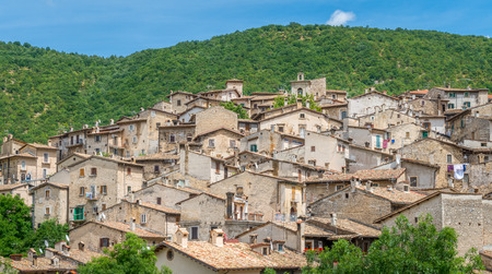 Scanno in a summer day, province of L'Aquila, Abruzzo, central Italy. Stock Photo