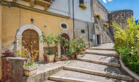 Scenic sight in Pettorano sul Gizio, rural village in the province of L'Aquila, Abruzzo, Italy. Editorial