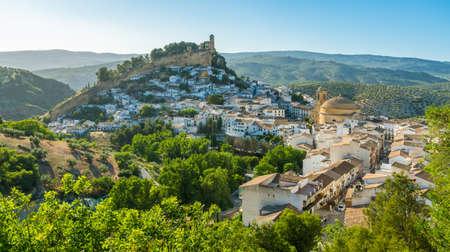 Panoramic sight in Montefrio, beautiful village in the province of Granada, Andalusia, Spain. Archivio Fotografico