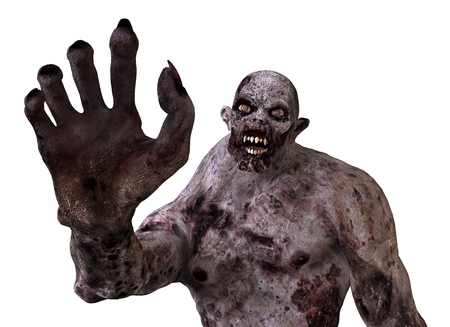 3D Illustration Zombie Monster Isolated On White