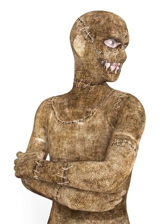 mummified: 3D Illustration Mummy Isolated on White Background