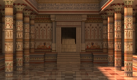 3D Illustration Pharaohs Palace for the Egyptian background Stock Photo