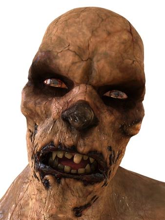 rot: Zombie Monster 3D Illustration Isolated On White