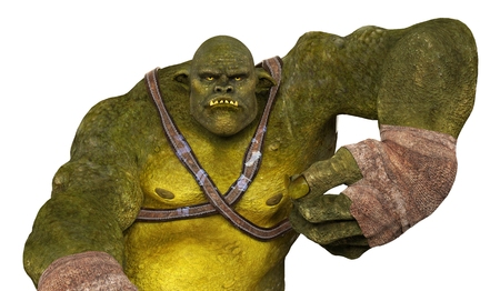 ogre: Ogre Monster 3D Illustration Isolated On White Stock Photo