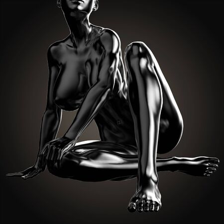 3D illustration Of Nude Woman Body Stock Photo