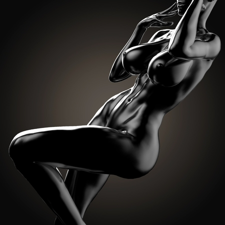 3D illustration Of Nude Woman Body Stock fotó