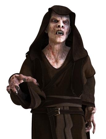 Vampire monster isolated on white background 3d illustration.
