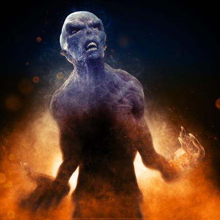 Demon Monster 3D Illustration