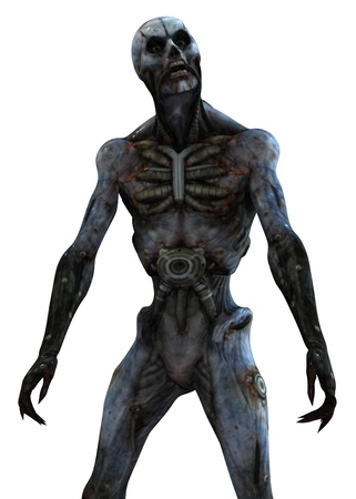Cyborg monster concept 3d illustration