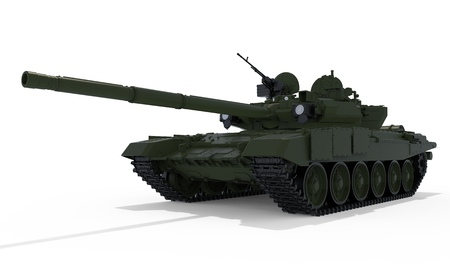 Panzer T-90 3D illustration isolated on white background
