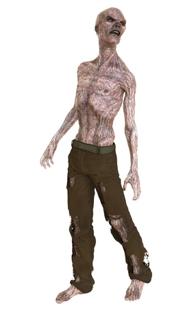 3D illustration zombie isolated on white background