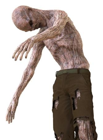 3D illustration zombie isolated on white background