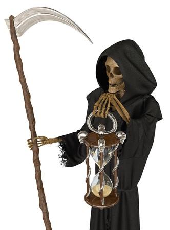 Engel des Todes lokalisiert auf weißem Hintergrund 3d Illustration