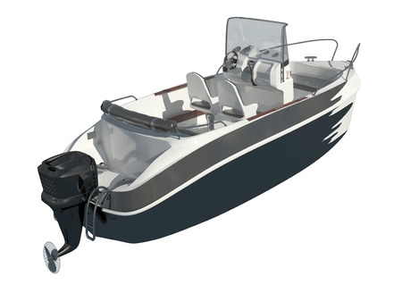 Speedboat Isolated on white background 3D illustration