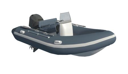 Powerboat Isolated on white background 3d illustration Stockfoto