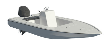 Powerboat Isolated on white background 3d illustration Zdjęcie Seryjne