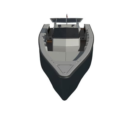 Powerboat Isolated on white background 3d illustration Фото со стока