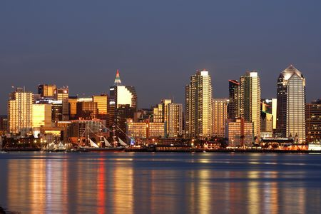 After sunset. Downtown San Diego, ca