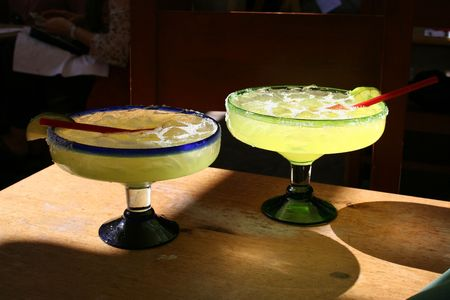 close-up of a margarita drink served at a mexican