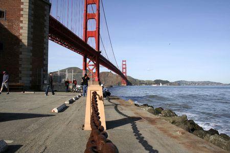 Sunny day. Golden Gate in San francisco, Ca, USA