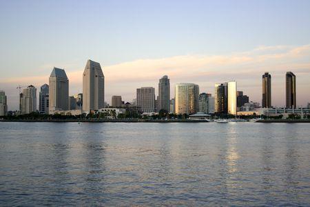 Evening. San Diego, USA Stock Photo