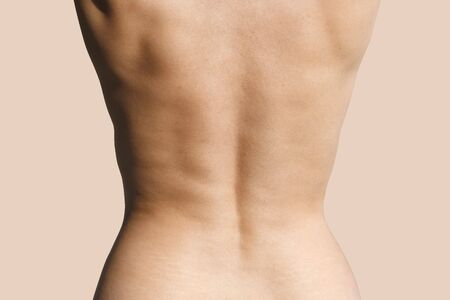 Back of a  woman.